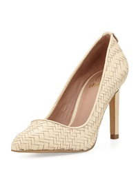 Elliott Lucca Catalina Woven Leather Pump Porcelain