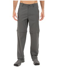 Royal Robbins Traveler Stretch Convertible Pants Charcoal Men's Casual Pants Gray