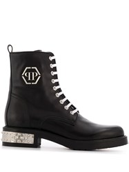 Philipp Plein Low Stud Boots Black