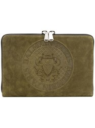 Balmain Document Holder Green