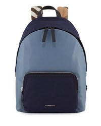 Burberry Abbeydale Colorblock Backpack Slate Blue