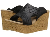 Sbicca Manny Black Women's Wedge Shoes