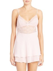 In Bloom Layered Chiffon Babydoll And Thong Rose