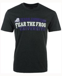 Colosseum Men's Texas Christian Horned Frogs Verbiage Stack T Shirt Charcoal
