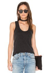 Bobi Distressed Jersey Racerback Tank Black