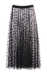 Giamba Polka Dot Tulle Skirt Black