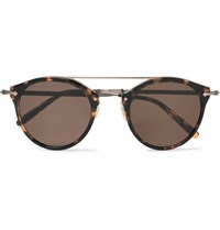 Oliver Peoples Remick Round Frame Tortoiseshell Acetate And Burnished Gold Tone Sunglasses Tortoiseshell