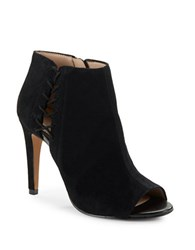 French Connection Suede Open Toe Stiletto Booties Black