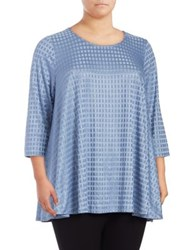 Context Plus Mini Square Blouse Smoke Grey