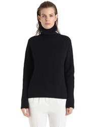 Rene Storck Cashmere Rib Knit Turtleneck Sweater