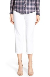 Women's Jag Jeans 'Echo' Pull On 5 Pocket Crop Pants White