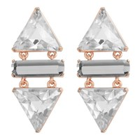 Wanderluster Smoketree Earrings Crystal And Rose Gold