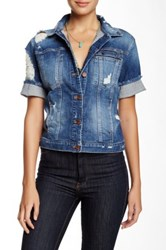 Genetic Denim Blondie Short Sleeve Denim Jacket Blue