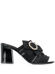 Dolce And Gabbana Embellished Buckle Mules Black