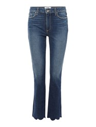 Paige Jacqueline Straight Jean In Florence Denim Mid Wash