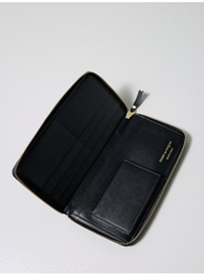 Long Classic Leather Wallet Black