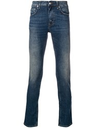 Department 5 Faded Slim Fit Jeans Blue