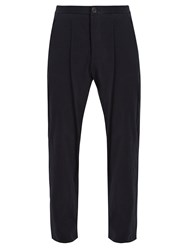 Oliver Spencer Relaxed Fit Drawstring Trousers Navy