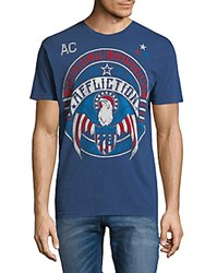 Affliction Graphic Cotton Tee Navy