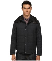Vince Quilted Jacket W Leather Piecing Heather Black Men's Coat