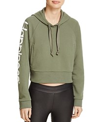 Happiness Crop Hoodie Military