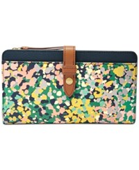 Fossil Fiona Tab Wallet Speckled Floral