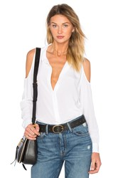 Equipment Cold Shoulder Top White