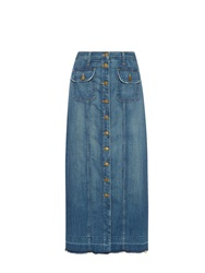 Current Elliott The Sally Denim Maxi Skirt