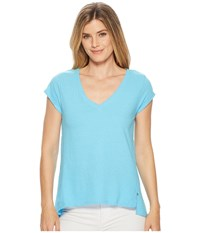Hatley Kate V Neck Tee Blue T Shirt