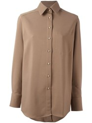Each X Other 'Lose' Oversized Shirt Brown