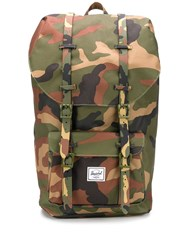 Herschel Supply Co. Little America Camouflage Print Backpack Green