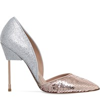 Kurt Geiger London Bond Glitter And Sequin Embellished Courts Pink Comb
