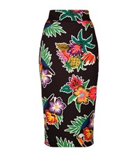 Pinko Printed Midi Pencil Skirt Female Black