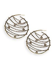 Paige Novick Eva Hoop Earrings 2.25 Inches Brass