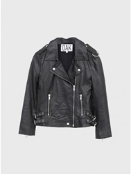 Oak La Leather Rider Jacket Black Oak