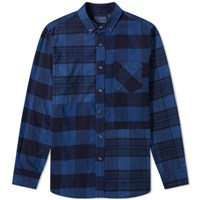 Blue Blue Japan Flannel Checked Hand Dyed Shirt Blue
