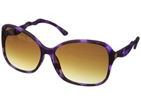 Spy Optic Fiona Soft Matte Purple Tort Happy Bronze Fade Fashion Sunglasses Black