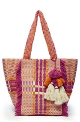 Sole Society Jalia Cotton Tote Pink Pink Multi