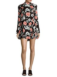 Minkpink Floral Print Overlay Dress Multi