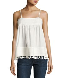 The Great Park Pleated Trim Tank White
