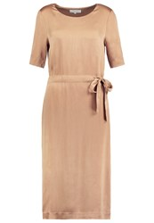 Selected Femme Sfchari Summer Dress Toasted Coconut Brown