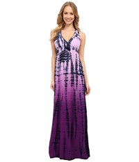Hard Tail Twisty Back Maxi Dress Ombre Lizard 4 Women's Clothing Brown