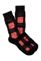 1901 Blocks Cushioned Sole Over The Calf Socks Black