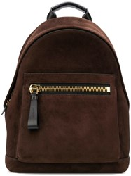 Tom Ford Panelled Backpack Brown