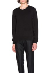 Maison Martin Margiela Crewneck Jersey Sweater In Black