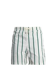 Solid And Striped Classic Swim Shorts Green Multi