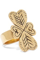 Chloe Maddie Hammered Gold Tone Ring 52