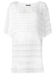 Faith Connexion Lace T Shirt Dress White