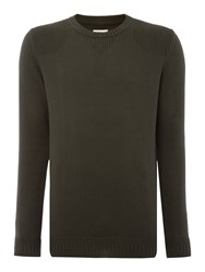 Peter Werth Men's Bradbury Military Knitted Crew Neck Olive