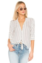 1.State Buttondown Tie Front Blouse White